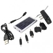 Silver Compact Solar Charger