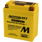MB3U MotoBatt Battery Replaces Yuasa YB3L-A and YB3L-B
