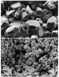 Lead Sulfate Crystals vs. Normal Lead Acid Battery Plate